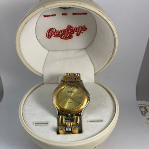 Rawling Gold Watch Unique Baseball Clamshell Box